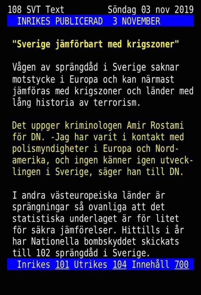 Sverige Krigszon